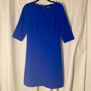 Tahari ASL Royal Blue Sheath Dress